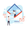 email marketing advertising campaign newsletter vector image vector image