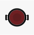 empty bbq bbq symbol barbecue grill top view vector image