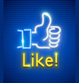 finger up with like gesture vector image vector image