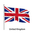 flag united kingdom vector image vector image
