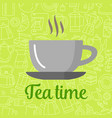 flat icon cup of tea isolated on background vector image vector image