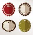 Frame labels Set ornamental vintage decorat vector image vector image