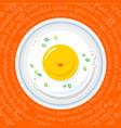 fried eggs good morning breakfast vector image
