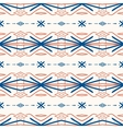 Geometric pattern with Scandinavian ethnic motifs vector image