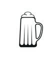 Glass of beer icon design vector image