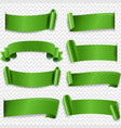 green silk ribbon isolated transparent background vector image vector image