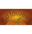 Halloween pumpkin and bats vector image vector image