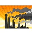 heavy industrial smog vector image