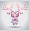 hipster polygonal animal deer triangle animal vector image vector image