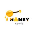 honeycomb honey dipper white background ima vector image