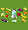 isometric healthy food concept vector image vector image