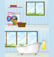 laundry room and bathroom vector image