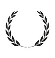 laurel wreath isolated icon vector image vector image