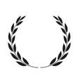 laurel wreath isolated icon vector image