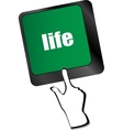 Life key in place of enter key - social concept vector image vector image