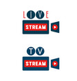 live stream camera shape vector image vector image