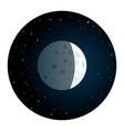 lunar eclipse round icon vector image vector image