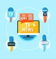 mass media tv news infographics vector image vector image