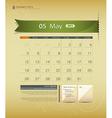 May 2013 Calendar vector image vector image