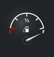 modern fuel indicator with high fuel level vector image vector image