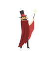 moustached waving his magic wand vector image vector image