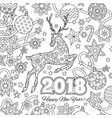 new year congratulation card with numbers 2018 vector image vector image