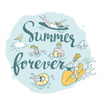 people actively relax swim in sea summer sea vector image vector image