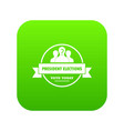 president election icon green vector image vector image
