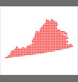 red dot map of virginia vector image vector image