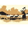 Reindeer tundra vector image vector image