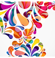Rounded colorful arc drops Decorative abstract vector image vector image