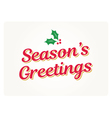 seasons greetings card vector image vector image