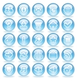 Shine Glass Icons vector image vector image