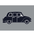 silhouette taxi car contemporary side view vector image vector image