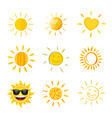 sun compilation vector image