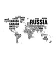 text country name world map typography design vector image vector image