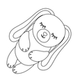 Toy rabbit icon in outline style isolated on white vector image vector image