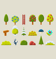 trees and plants in different setasons sett fruit vector image