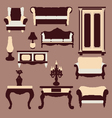 vintage furniture Interior Icon vector image vector image