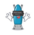 virtual reality iron board mascot cartoon vector image
