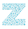 water letter z vector image