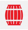 wooden beer keg icon design vector image
