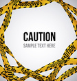 Yellow tape design vector image vector image