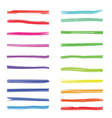 Color highlight stripes colored marker highlighter vector image