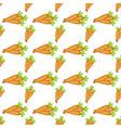easter carrot cartoon seamless pattern vector image
