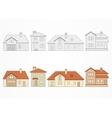 Set of suburban homes vector image