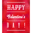 Romantic Valentines Day Greeting Card vector image