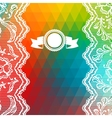 Card abstract geometric background vector image