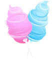 cotton sweet candy isolated on white vector image