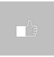 Thumbs up computer symbol vector image